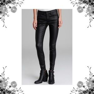 Joie 'Nailah' Coated Denim Faux Leather Pants