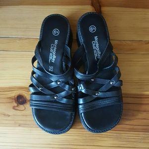 f3945ca60 Montego Bay Club Shoes - Black leather Montego Bay Club Sandals