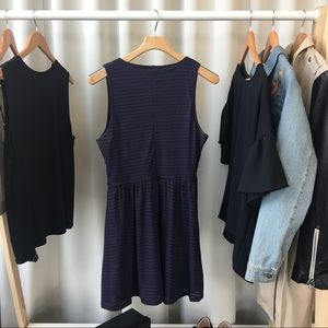 Cotton On Dresses - Navy Blue Striped Fit & Flare Dress
