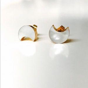 Bondhu Jewelry - Bondhu | 24K Pearlized Shell Moon Ear