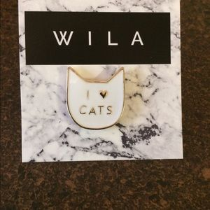 WILA Jewelry - I ❤️ my cats pin.
