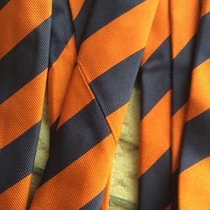 Urban Outfitters Accessories - Hi-Brow Skinny Bold Diagonal Orange Stripe Tie
