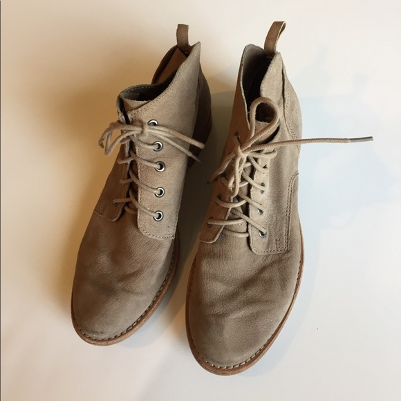 a3ff49c1f597a Sam Edelman Mare putty lace-up booties. M 58e565e33c6f9ff7e500b86a