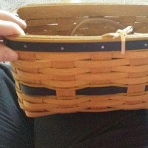 Longaberger basket purse NWT