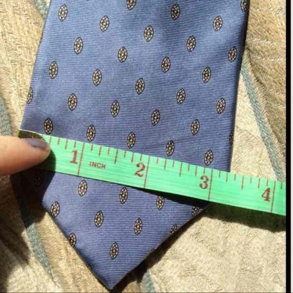 Vintage Other - Baby Blue Silk Vintage Stain Glass Polka Dot Tie