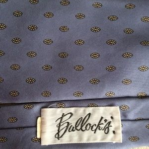 Vintage Accessories - Baby Blue Silk Vintage Stain Glass Polka Dot Tie