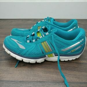 Brooks Shoes - Brooks Blue/Lime Pure Cadence Running Shoes