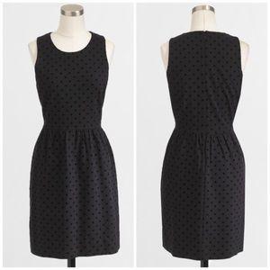 NWT J. Crew Factory Velvet Dot Black Dress