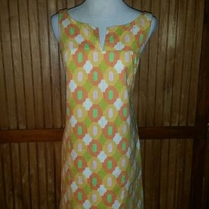 60s Vibe Jacquard Shift Dress