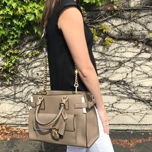 Michael Kors Saffiano Satchel with Dustbag