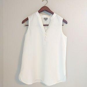 J. Jill Tops - J. Jill 100% Linen white tunic sleeveless tank top