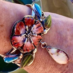 Spiny Oyster Flower Cuff by Francisco Gomez