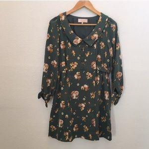 Minimum Dresses & Skirts - Peter Pan collar floral dress