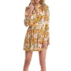 Tegan printed mini dress