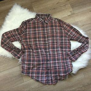 William Rast Tops - Plaid long sleeve button up shirt
