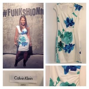 Calvin Klein Printed Floral Sheath Dress