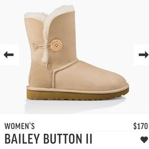 UGG Shoes - Bailey Button Sand Uggs