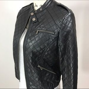 Bernardo Jackets & Blazers - Collection by Bernardo Quilted Faux Leather Jacket
