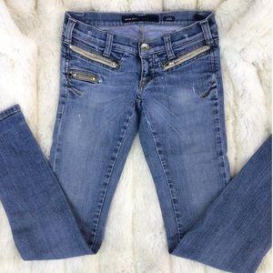 Miss Sixty Denim Zipper Skinny Jeans