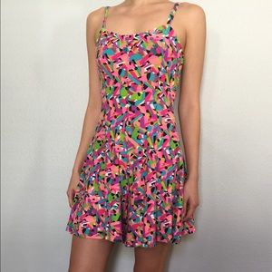 Vintage One of a Kind Neon Romper
