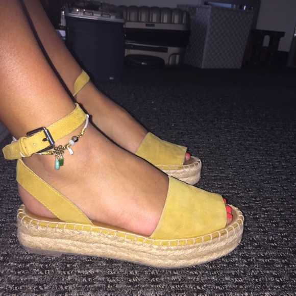 fe313b9809c Franco Sarto Shoes - Mustard Yellow Franco Sarto Espadrille Sandals