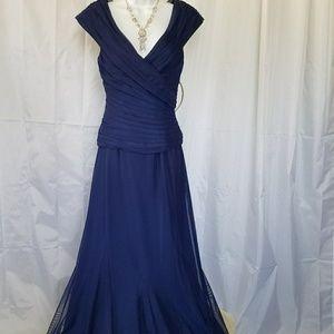 Alex Evenings Dresses & Skirts - ⬇ALEX EVENINGS MOTHER OF BRIDE DRESS NAVY BLUE 8