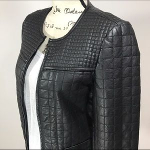 Dorothy Perkins Jackets & Blazers - Luxe Dorothy Perkins Quilted Faux Leather Jacket