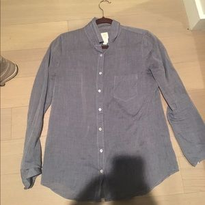 J Crew boy shirt in chambray cotton