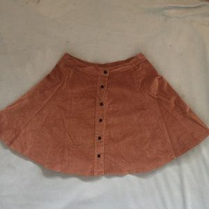 brandy pleated corduroy circle skirt