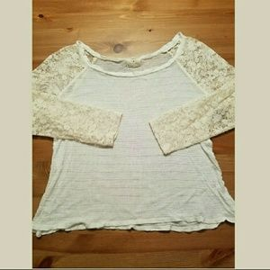 Urban Outfitters Tops - Urban Outfitters Cotton and Lace Top SZ S