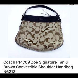 Coach Handbags - 🌷Coach F14709 Zoe Signature Tan & Brown handbag🌷