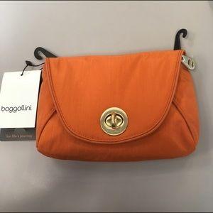 Baggallini Handbags - Seville Mini Crossbody with gold Hardware papaya