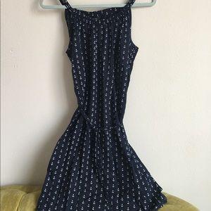 Navy Anchor printed dress