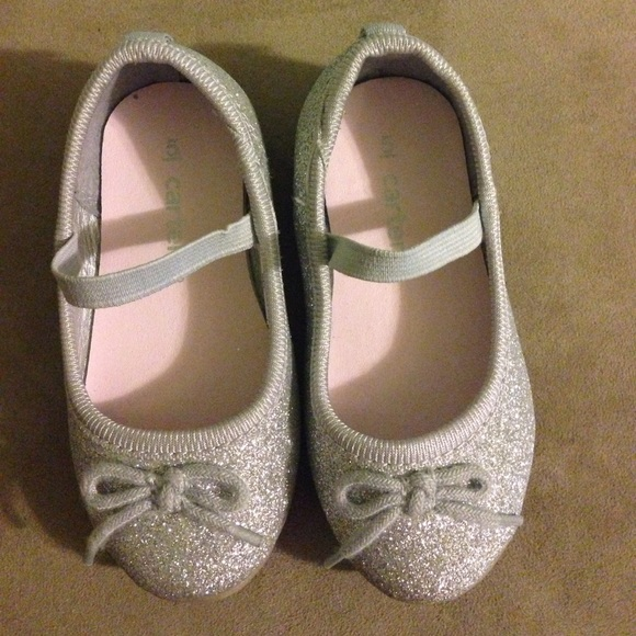 25aae2443db8 Carter's Shoes | Carters Silver Ballet Flats | Poshmark