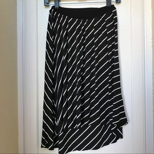 Maternity high-low skirt