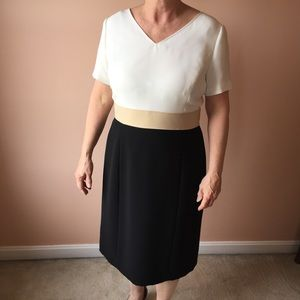 Preston & York Dresses & Skirts - Preston & York White & Black Colorblock Dress