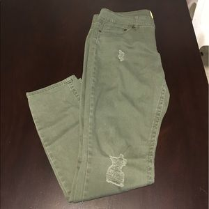 Indigo Rein Denim - New Skinny dark green ripped jeans