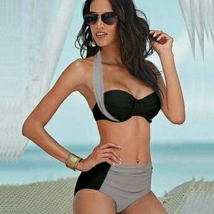 Other - Gray n black low rise swimsuit