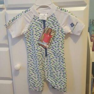 Snapper Rock Other - Baby boy swim suit zipper snapper rock