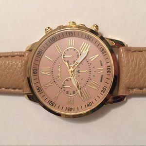 Geneva Platinum Accessories - •NEW• Tan & Gold Geneva Platinum Watch!