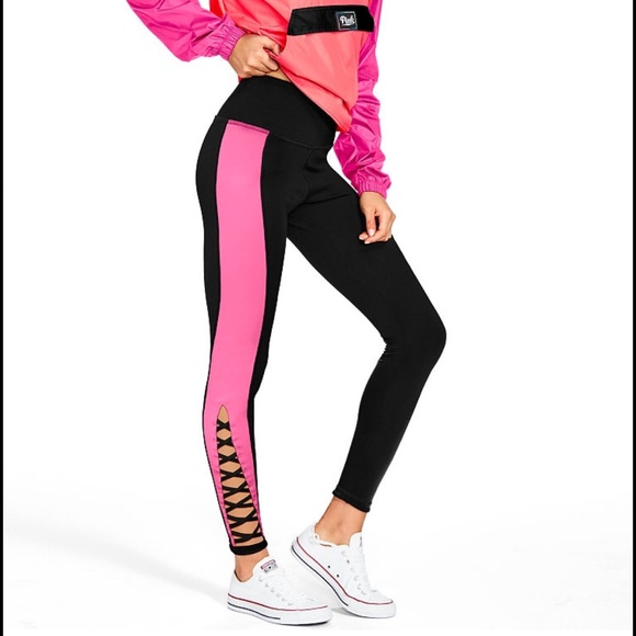 2eddc252be573 Ultimate strappy high waist cut out pink legging S
