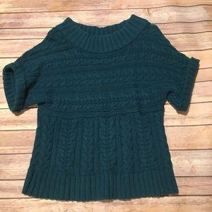 Express Sweaters - Express - Short Sleeve Crop Sweater.