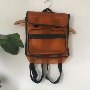 VINTAGE 90's Orange mesh backpack