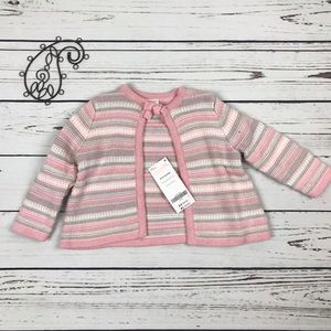 Gymboree Other - NWT Gymboree 6-12m Sparkle Stripes Sweater Coverup