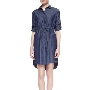 ATM Anthony Thomas Melillo Dresses & Skirts - ATM drawstring chambray shirt dress