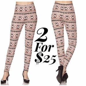 Lulupie Pants - Aztec Print Brushed Leggings