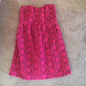 Julie Brown Dresses & Skirts - Cute pink strapless mini dress