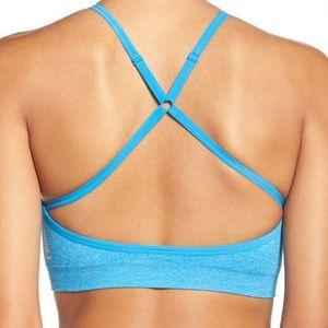 Zella Body 'Breathe' High Neck Sports Bra in Blu