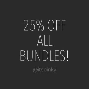  25% OFF ALL BUNDLES! + COMBINED SHIPPPING! 
