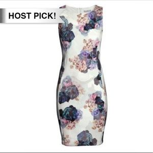 H&M Dresses & Skirts - *HP!* H&M floral sleeveless bodycon fit dress XS